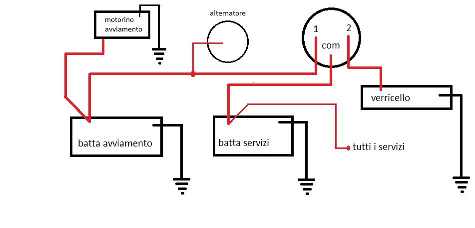 Schema Collegamento Motorino Tergicristallo : Africaland leggi argomento doppia batteria e piccolo